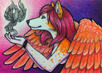 ACEO - Tiikay with Phoenix Commission