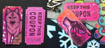 Ticket-ACEO key-tags - before and after Lamination by Crazdude