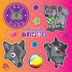 Crazdude Promo Sticker Sheet