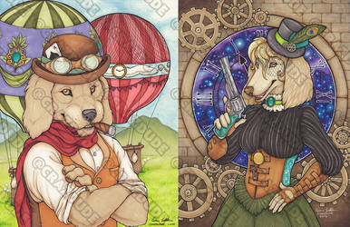 Steampunk Dogs duo Ace and Donatella