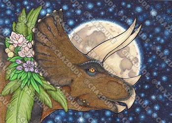 Triceratops Portrait by Crazdude