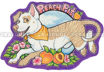 Peach Pit half-page marker badge for TehAlbi