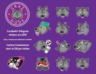 Crazdude's Telegram sticker set by Crazdude