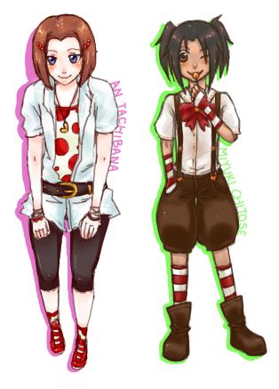 An and Miyuki by inazumaookami