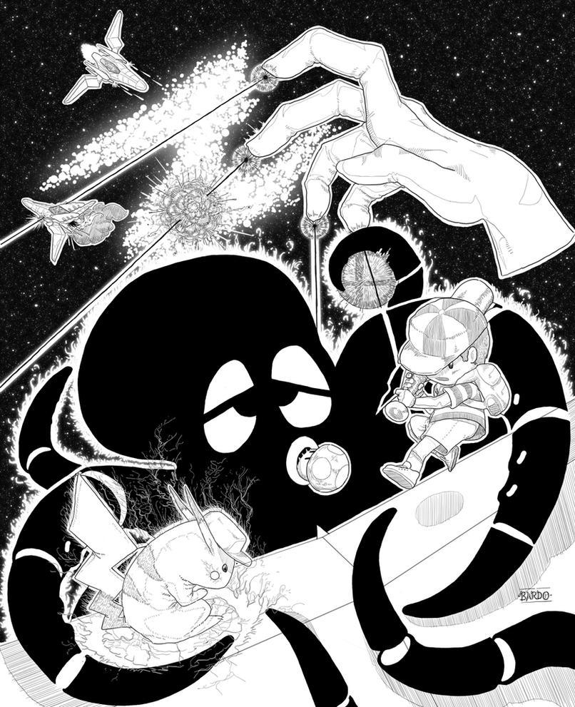 Super Smash Bros Inks by Bardo-No