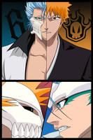 Ichigo vs. Grimmjow by chev327fox