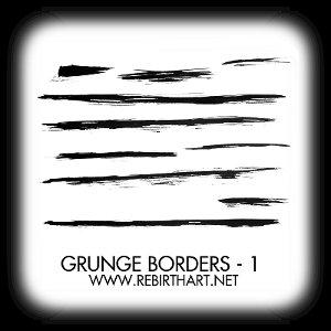 Brush - Grunge Border 1 by RebirthArt