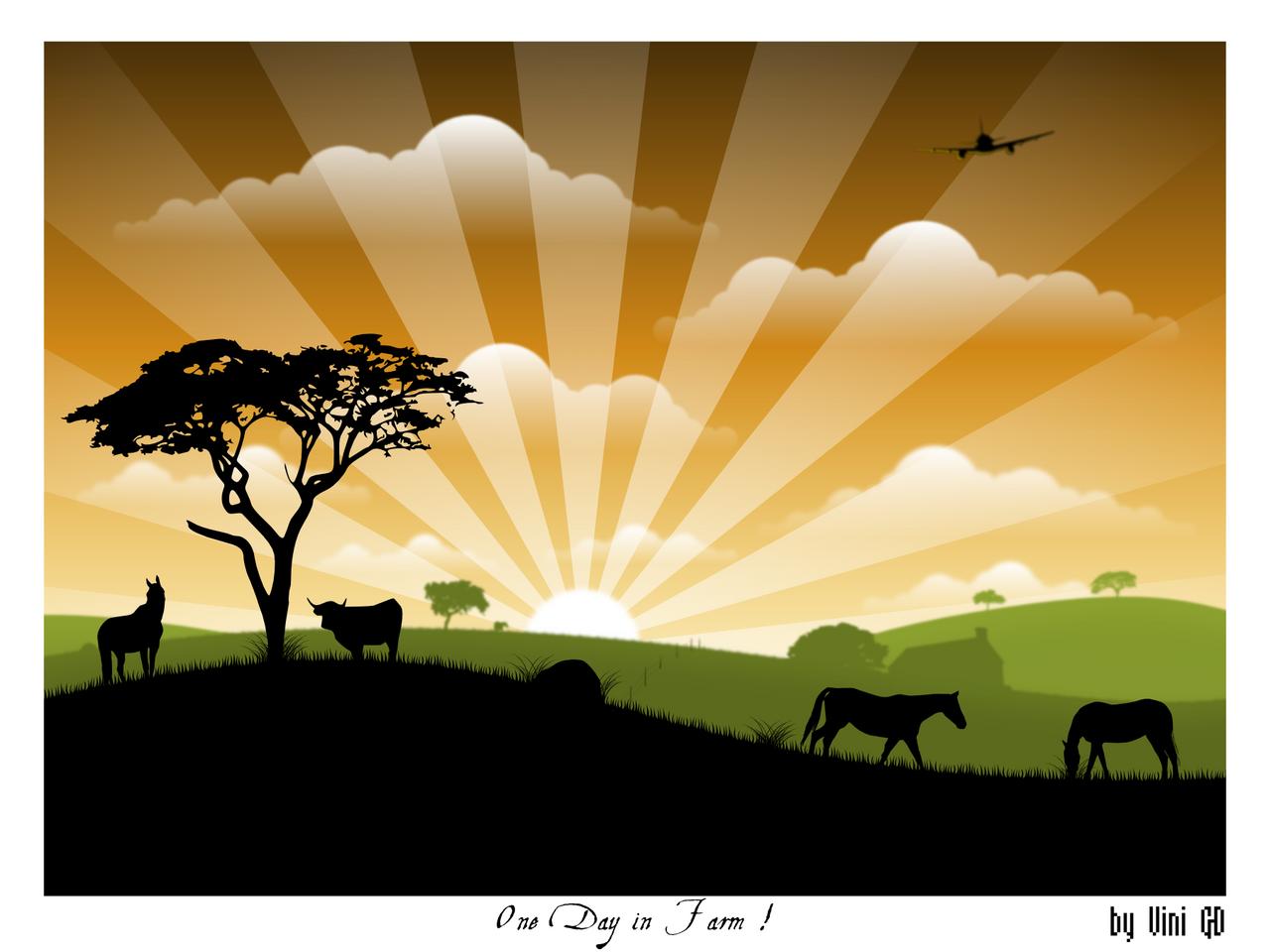 One Day in Farm by RebirthArt