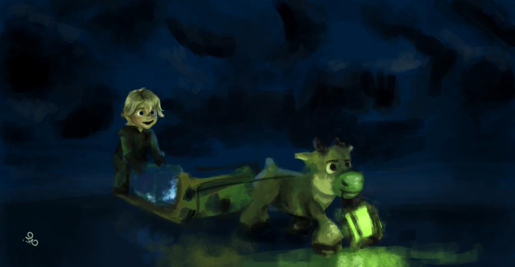 Kristoff and Sven by ferdicamacho
