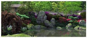 Japanese Garden Spring I by Platycerium