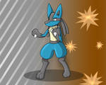 Xepher's Lucario Suit 4 by Fox0808