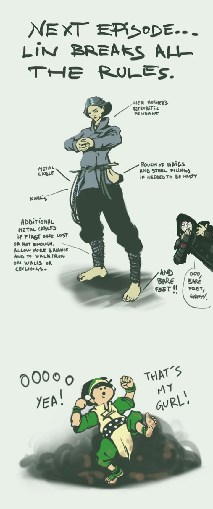(Spoilery) Rule Breaker Lin - The Legend of Korra by Ambroise-H