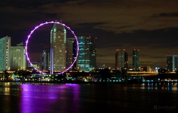 Marina Barrage Cityscape by josgoh