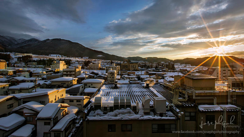 View of Yamanouchi Town, Japan by josgoh