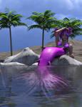 Suntanning Mermaid