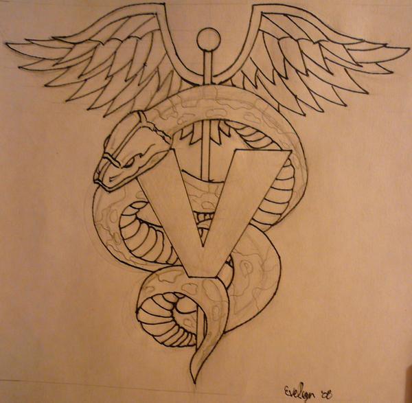 Veterinary Caduceus tattoo idea - Pinterest
