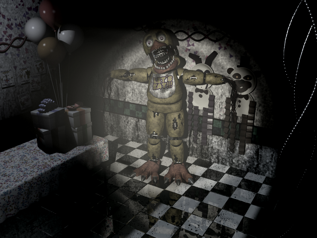 Chica in party room 4 by infernox ratchet on deviantart