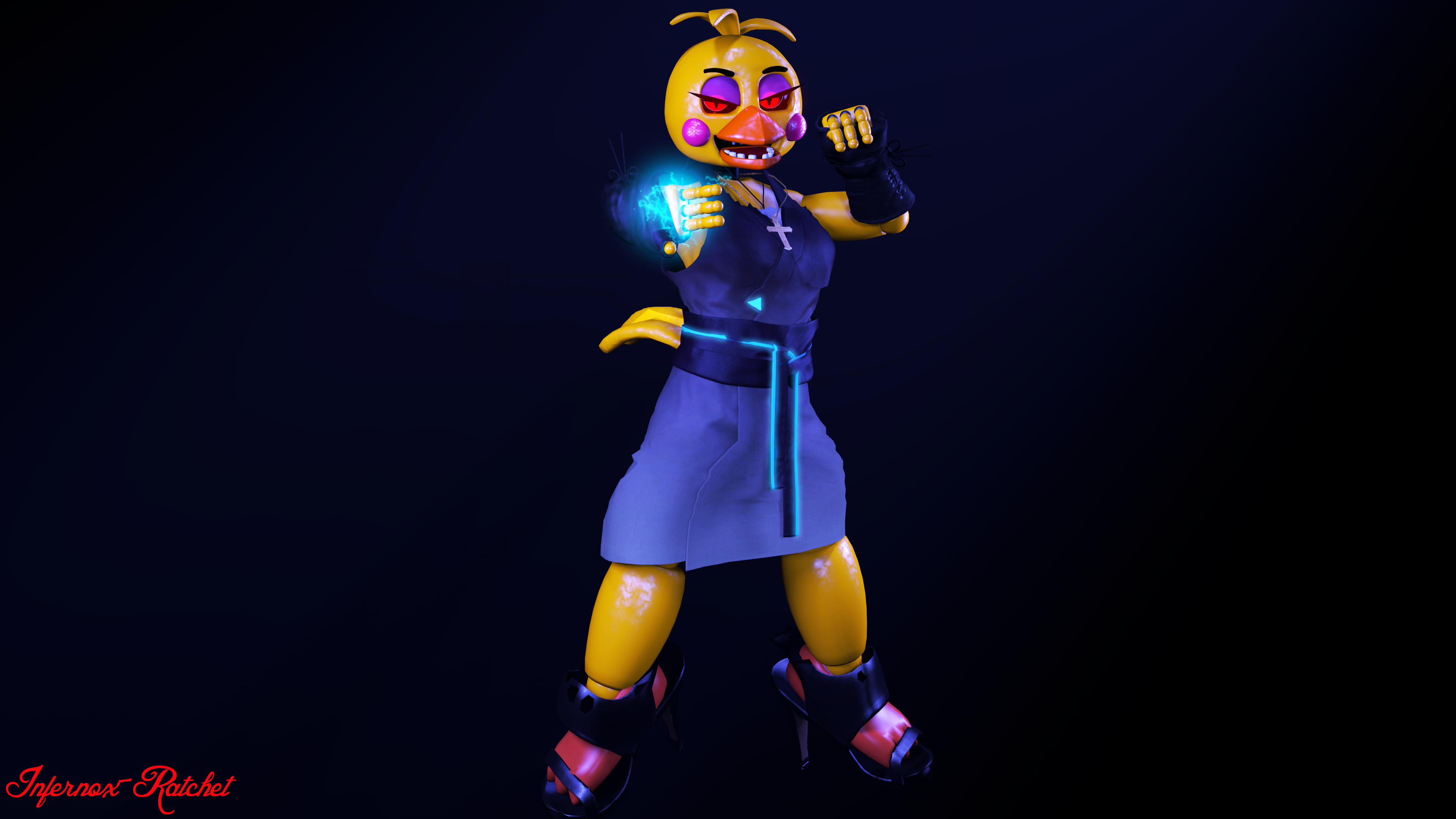 Toy Chica On FiveNightsAtChicas
