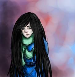 Sad girl by Gonciii