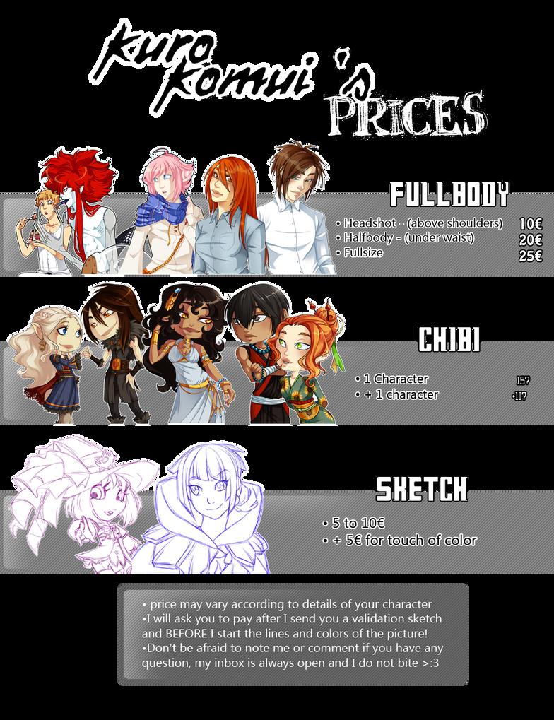 Commission Prices by KuroKomui