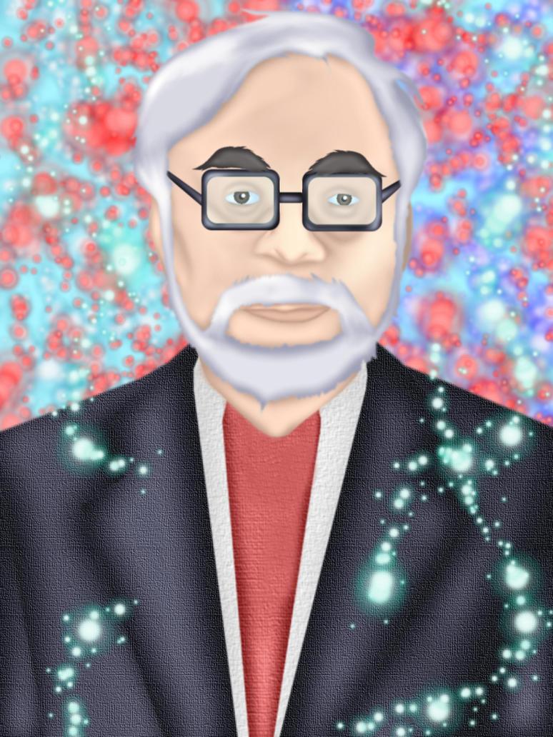 Hayao Myazaki by GronHatchat