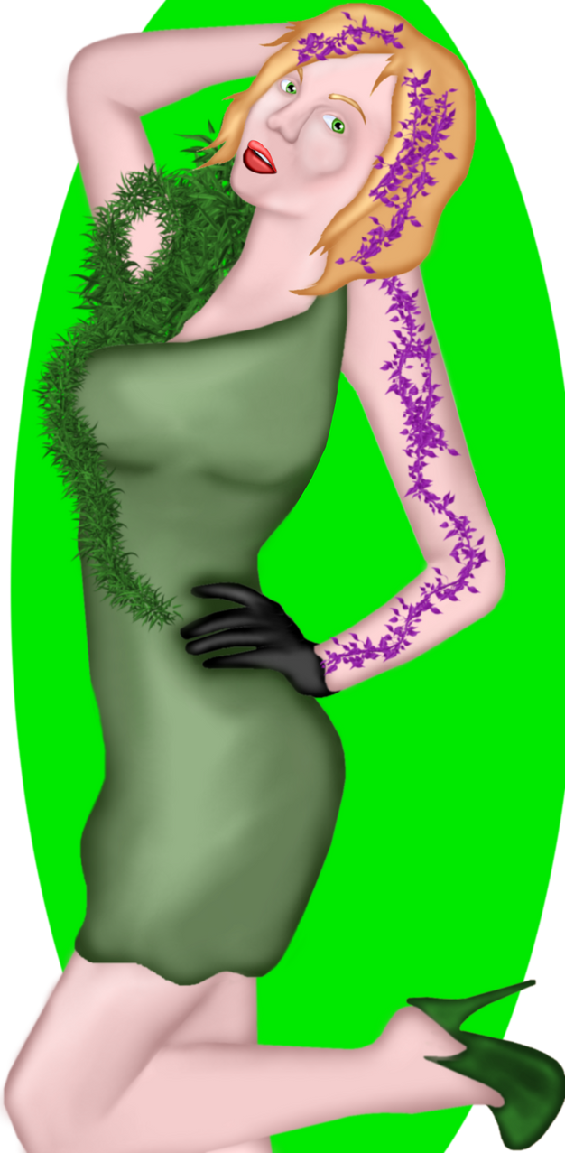 Talina Questai, a Lady in Green by GronHatchat