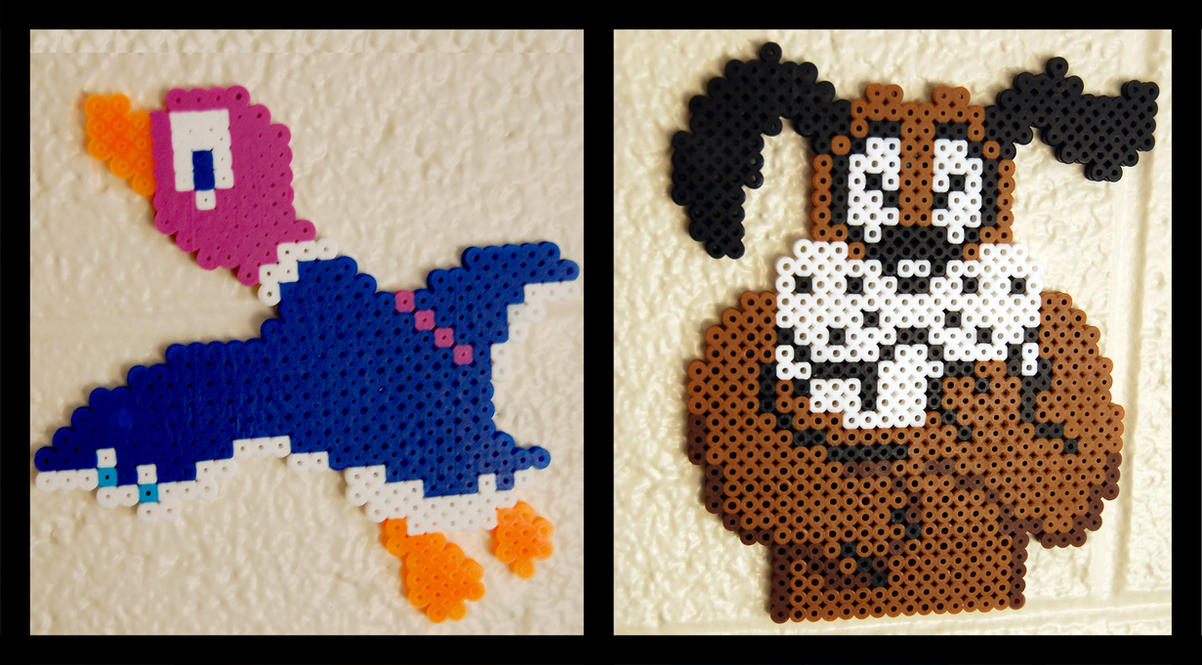 Duck Hunt perler beads by maypoman on DeviantArt