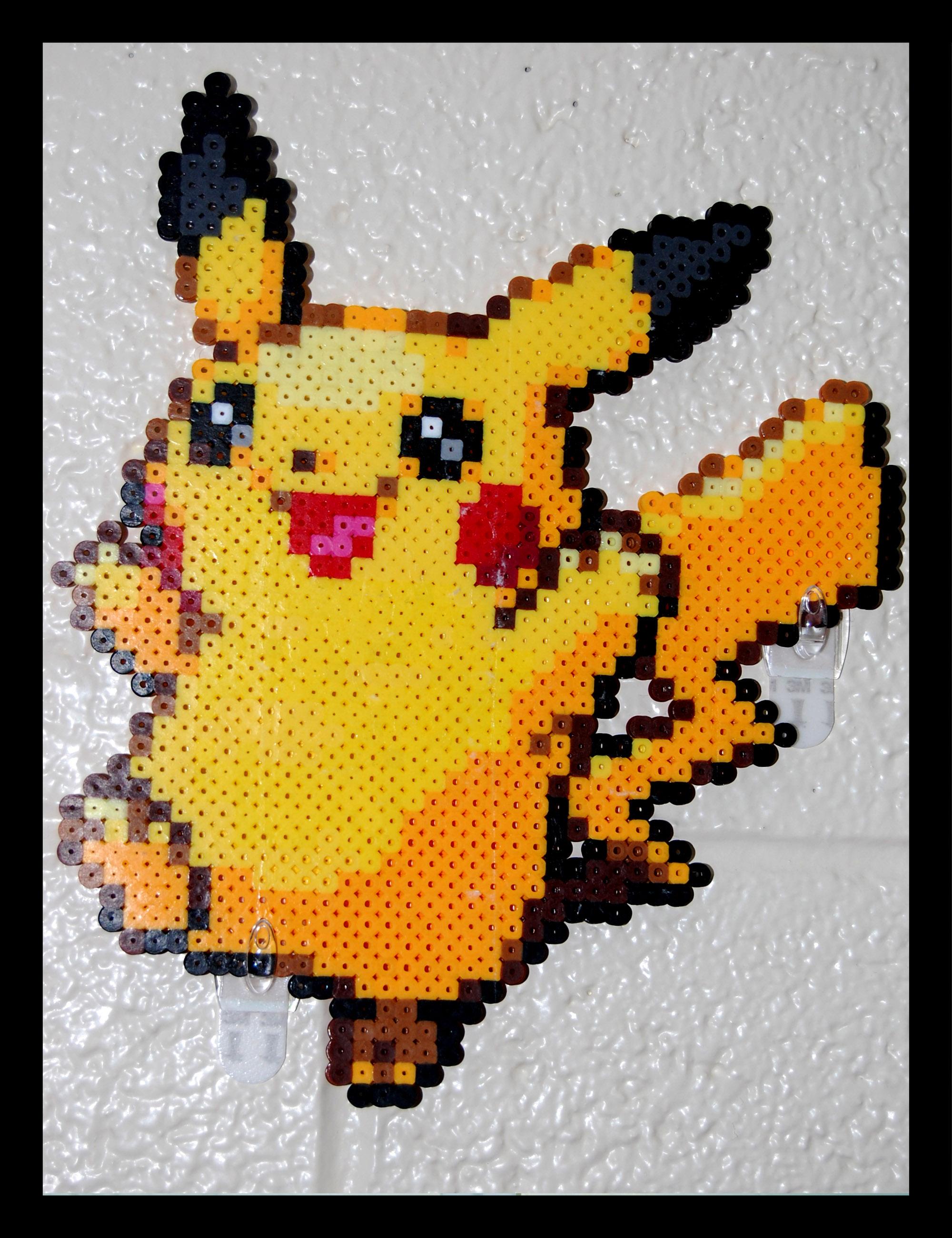 Pikachu perler beads by maypoman