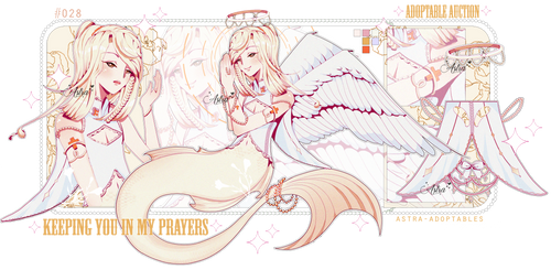 CLOSED* Angelic mermaid adopt - AUCTION by Astra-adoptables