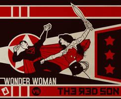 Wonder Woman vs. The Red Son by DavidJacobDuke