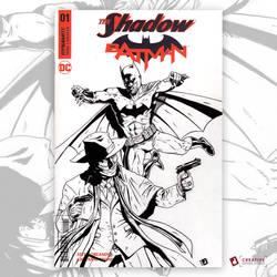 The Shadow Batman: Original Art Sketch Cover by DavidJacobDuke