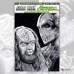 Star Trek Green Lantern #1 Original Artwork Sketch by DavidJacobDuke