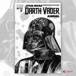 Darth Vader Original Artwork Sketch Cover by DavidJacobDuke
