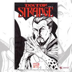 Doctor Strange Original Artwork Sketch Cover by DavidJacobDuke