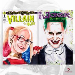 Harley Quinn and The Joker Original Art