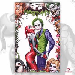 Harely Quinn and Joker Original Art Sketch Cover