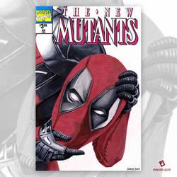 Deadpool Original Art Sketch Cover