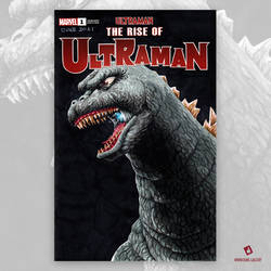 Godzilla Original Art Sketch Cover