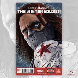 Winter Soldier Original Art Sketch Cover
