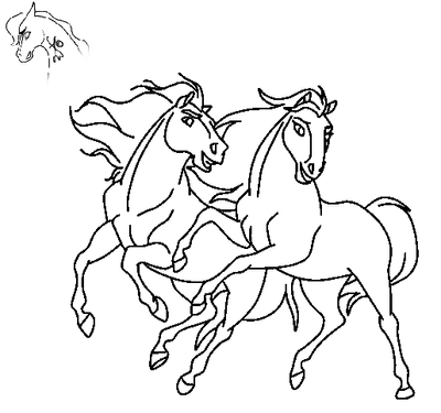 dreamworks spirit coloring pages - stallion and mare base by lyricthemare on deviantart