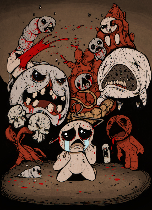 FanArt:The Binding of Isaac by ThePsychoGoat