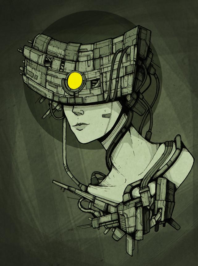 Techno Priestess by ThePsychoGoat