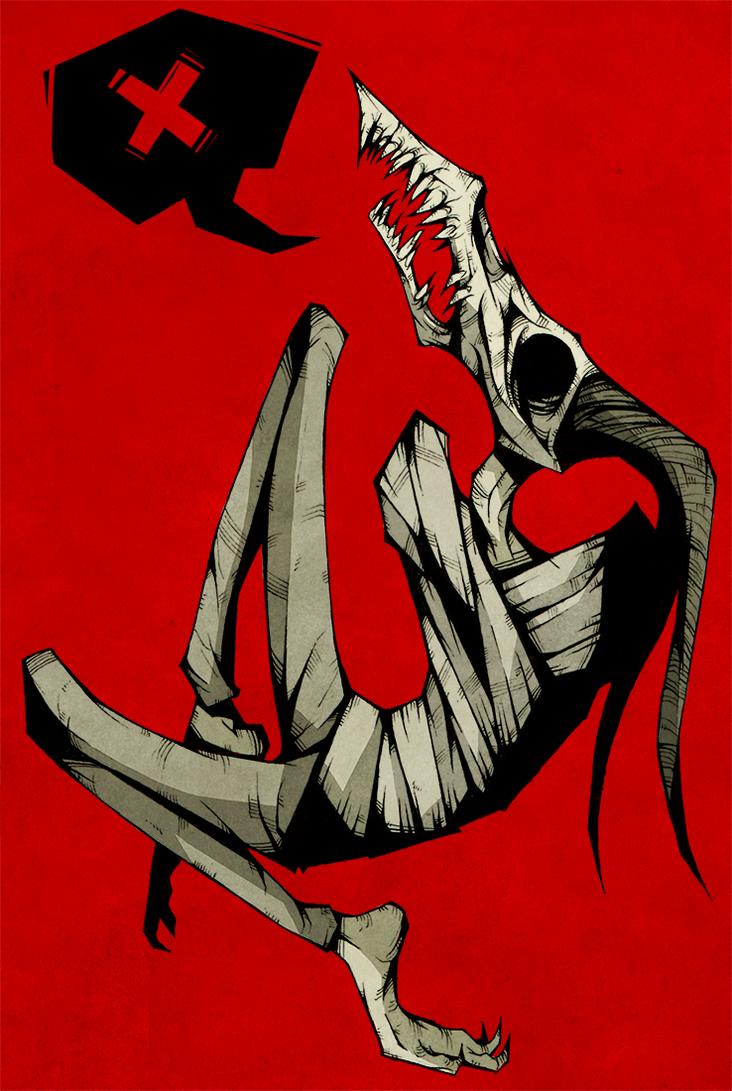 Sad horn boy by ThePsychoGoat