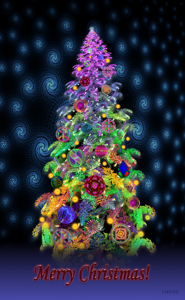 Funky snowy christmas tree by ad on deviantart