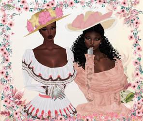 Gossipy belles by LucilliaSnowfox