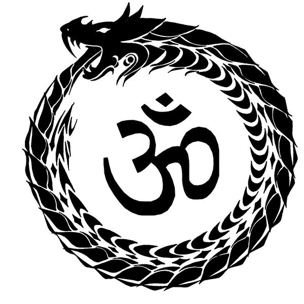 Ouroboros and Omkar by crookedwings