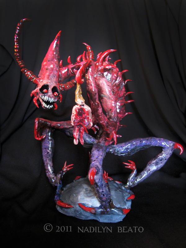 Demon Sculpture 4 by NadilynBeato