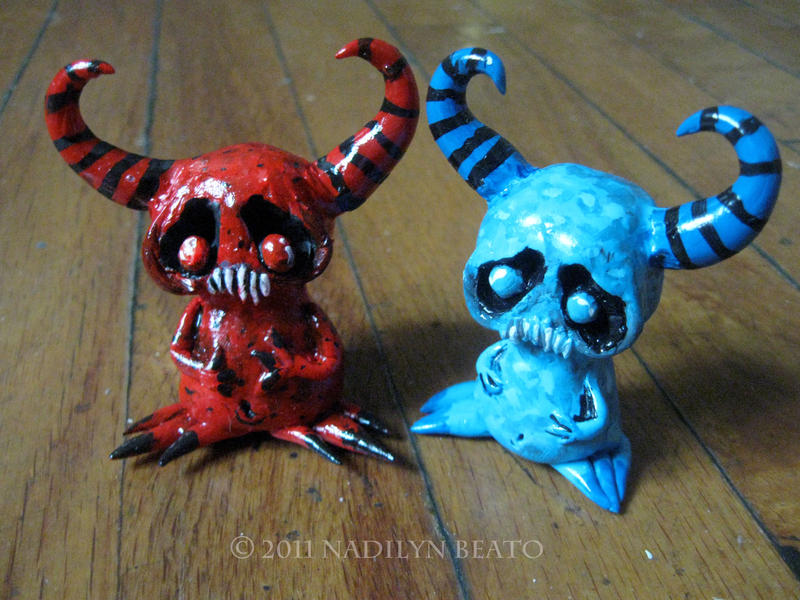 Little Blue and Red Demons by NadilynBeato