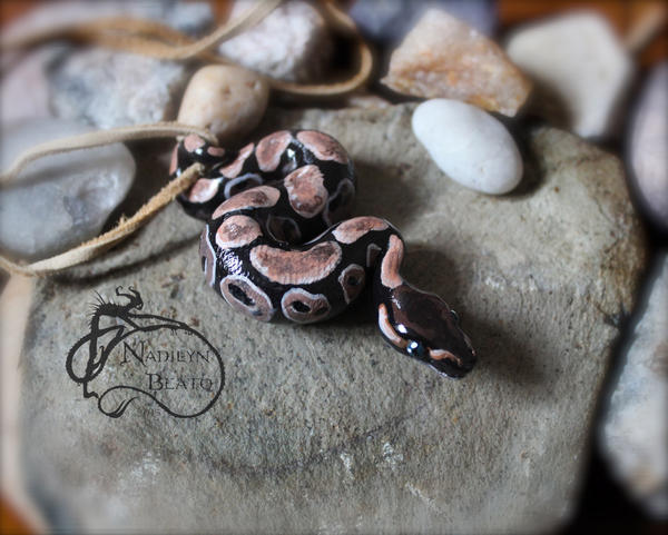 Royal ball python pendant by NadilynBeato