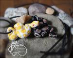 Albino and Royal Ball Python Pendants